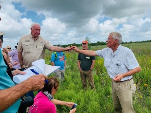 Dr Barron Rector at Attwater Prairie Chicken NWR - Spring 2020
