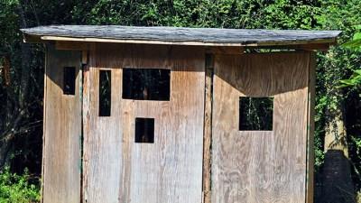 New Roof on SCNP Bird Blind