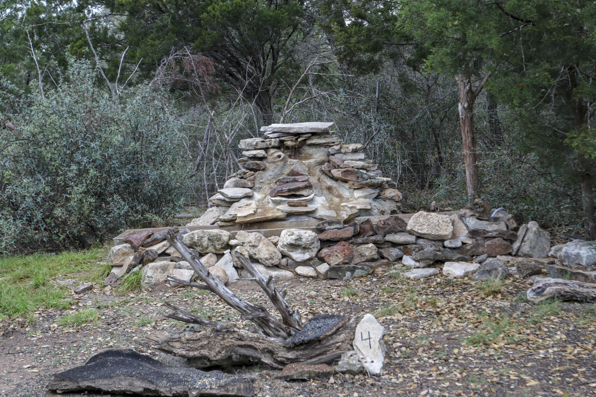 Water feature at South Llano State Park