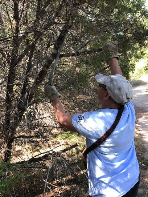 Trail Work at Dinosaur Valley State Park