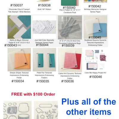New Choices for Sale-A-Bration added!