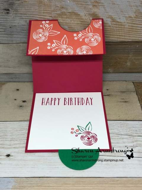 Fun Fold with 2 Inch Circle Punch