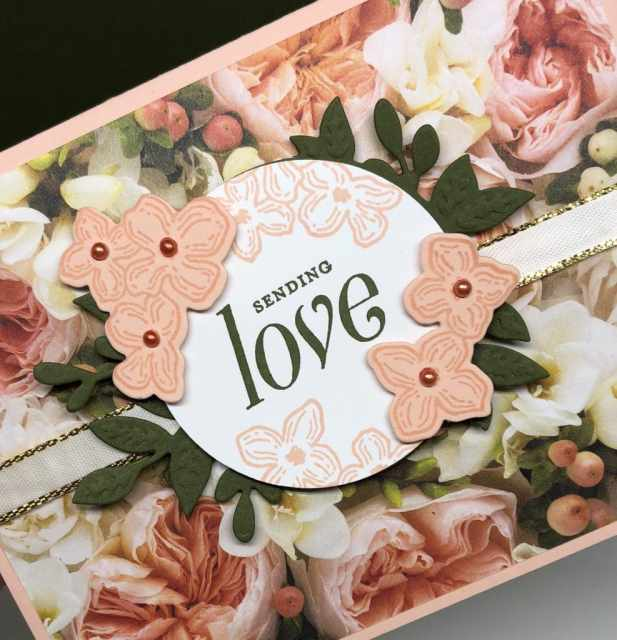 Easy Card making with Stampin' Up! Floral frames and petal promenade designer series paper