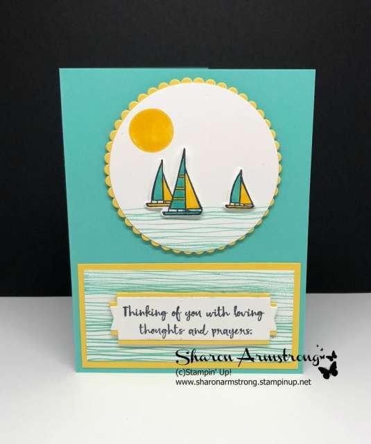Cardmaking tutorial lilypad lake stamp set