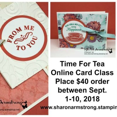 Time For Tea Online Card Class