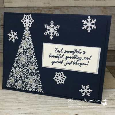Christmas Card Designs that Sparkle: Snow is Glistening