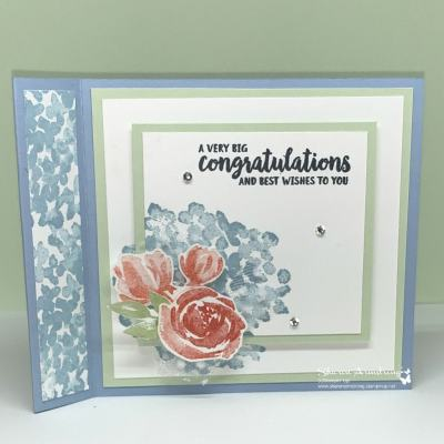 Make a Beautiful Wedding Card That is Also A Fun Fold Greeting