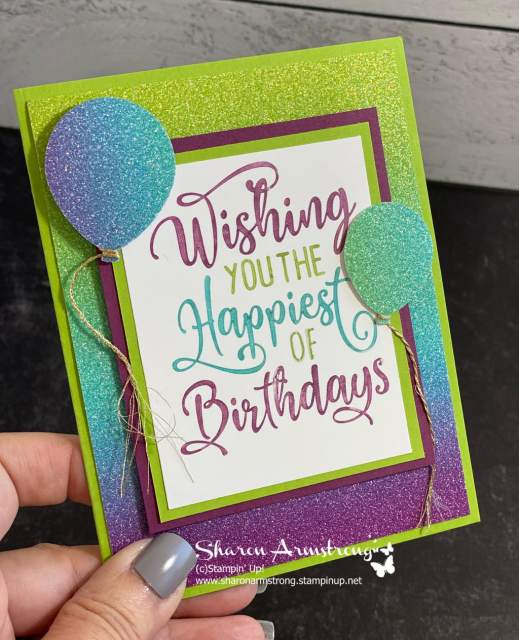 make-a-birthday-card-with-gradient-glimmer-paper-in-greens-blues-and-purples