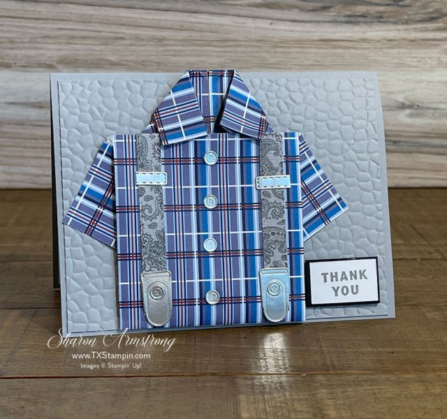 Make an origami shirt card for guys that you can really get creative with.