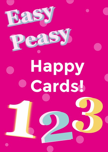 Try these simple card making ideas that are part of my Easy Peasy series.