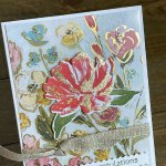 Make a Card for a Friend with Gold Leaf Flakes