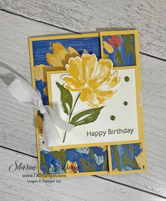 Learn how to make a double flap fun fold card that will be a beautiful birthday card.