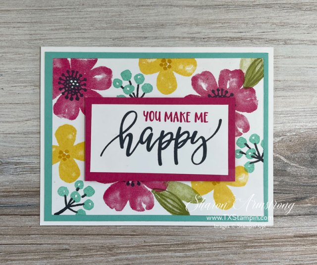 Simple card making that's easy as 1-2-3