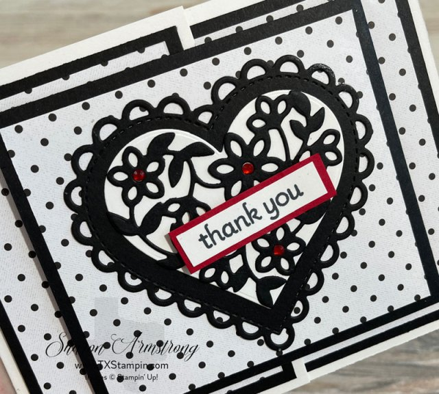 This thank you card is full of lots of heart and hugs!