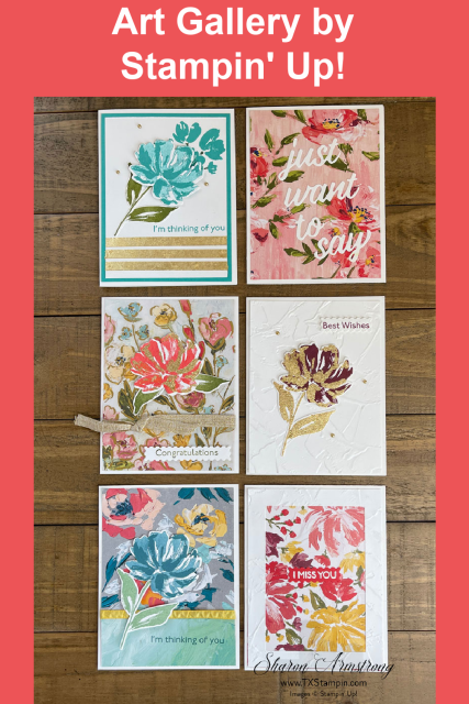 Stampin' Up! Art Gallery stamp set makes lots of pretty greeting cards.