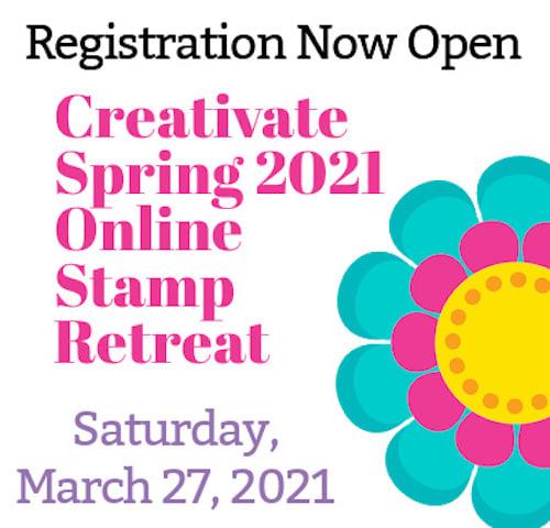 Creativate spring retreat registration click here.