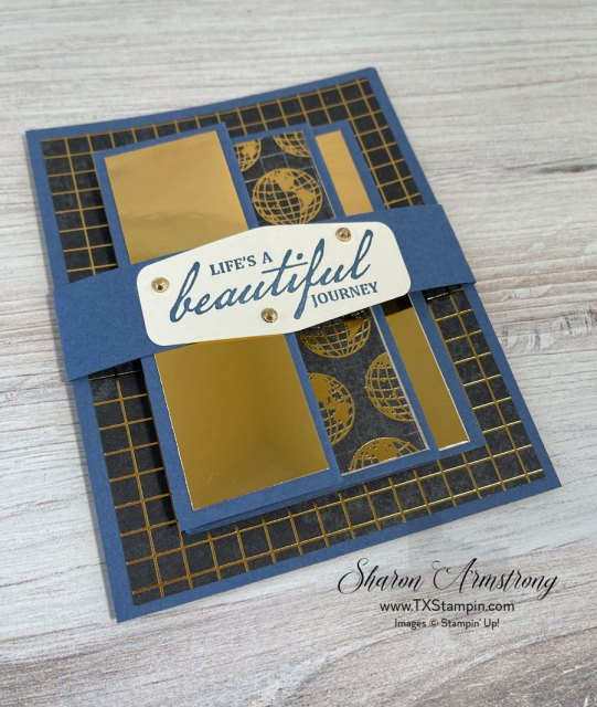 This accordion fold masculine card is easy to make and perfect as an anniversary card.