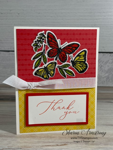 I love the stained glass look when embossing on vellum paper using water based markers.