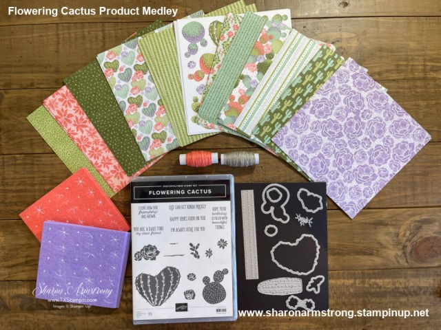 The Stampin' Up! Flowering Cactus medley is so fun. Pair it with blending brushes and you've got hours of craft time.
