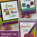 Stampin' Up! Rainbow Glimmer Paper Ideas