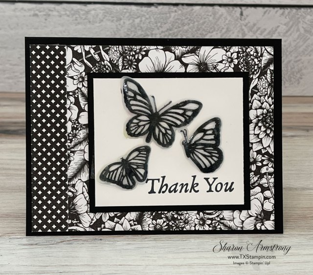 Embossing on vellum paper is so fun. These butterflies 'take flight' on vellum.