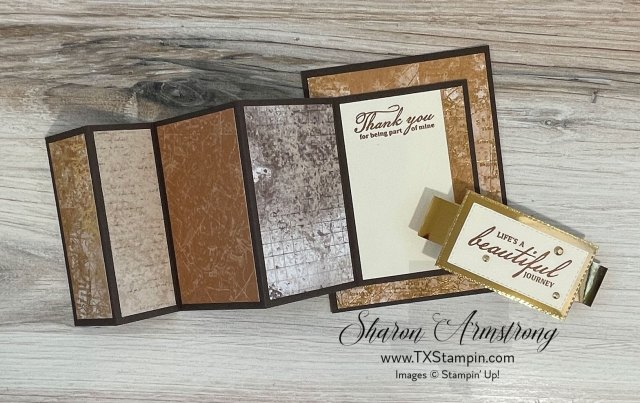 You can really show off your designer paper on these accordion fold masculine cards.