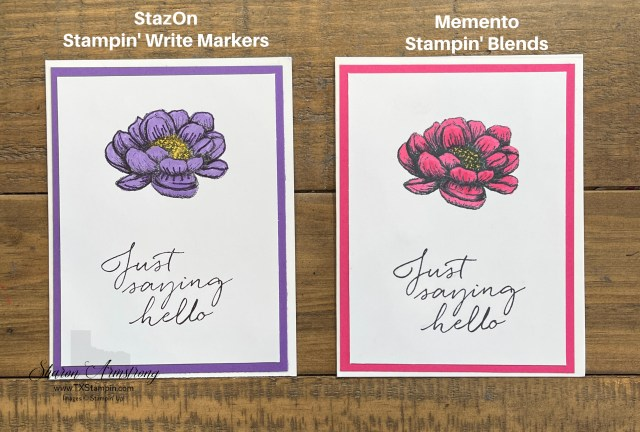 The memento black ink pads are perfect for using with Stampin' Blends.
