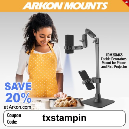 Use code txstampin to save on arkon mount stand.