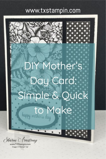 You can DIY Mother's Day card simple and quick