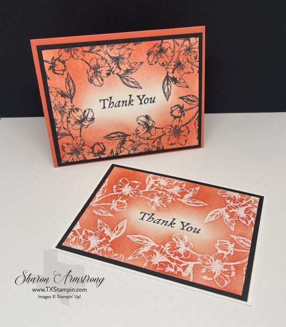 Step one to the emboss resist process is to prep your cardstock with a classic ink color.
