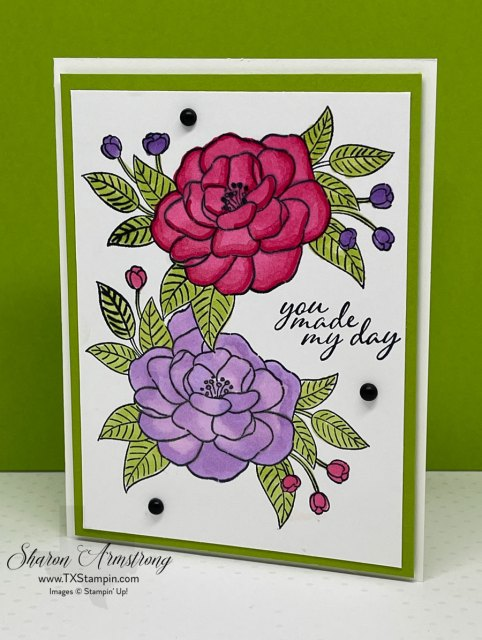 This greeting card features a masking technique.