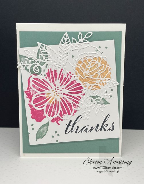 Artistically inked greeting cards are easy to make when the stamp set does the hard work for you.
