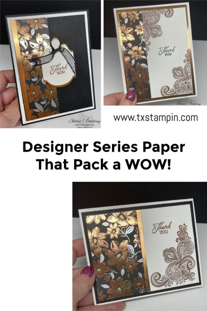 This designer paper makes Elegantly said handmade cards super easy and beautiful.