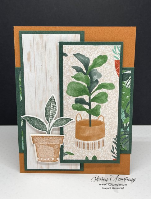 This was the greeting card I made for a friend during my Mystery Stamping. I love the Stampin' Up! Bloom Where You are Planted Suite!