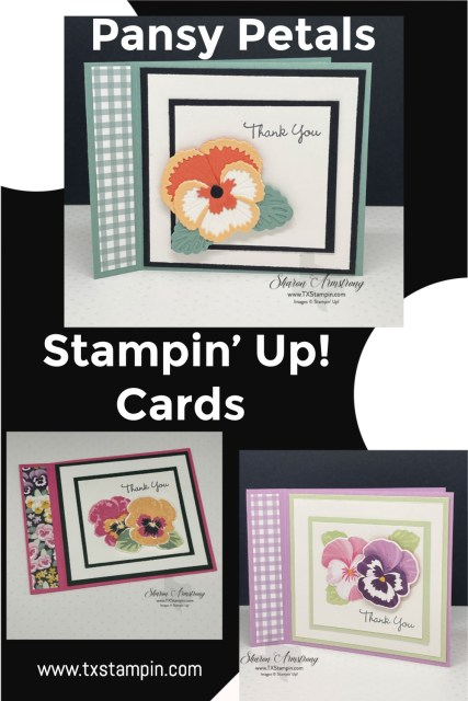 The Stampin' Up! Pansy Petals are so to use to create cards and scrapbook pages.