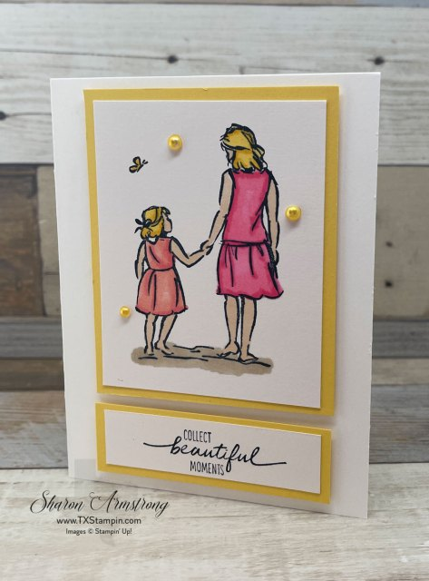 I used pink and coral colored alcohol markers for this easy to make greeting card.