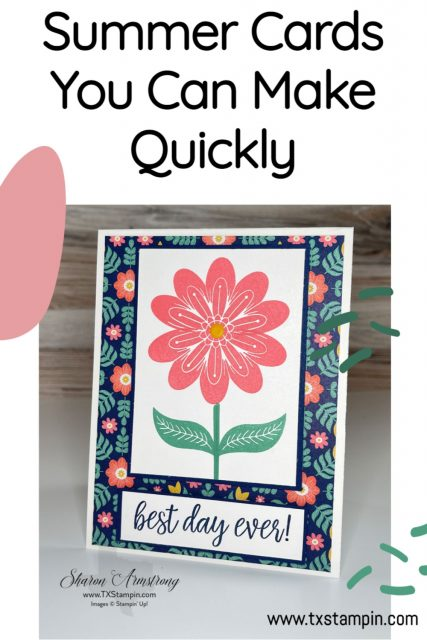 Summer cards you can make quickly; save these ideas to your favorite Pinterest Board.