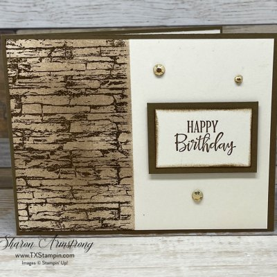 Make Birthday Cards For Men + Learn An Easy Way To Stamp A Stone Wall