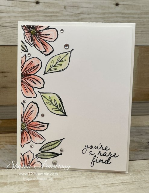 The Stampin' Up! Art in Bloom stamp set is perfect for simple stamped cards too!