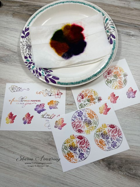 coloring stamped images with the baby wipe technique is like stamping with a multi colored ink pad