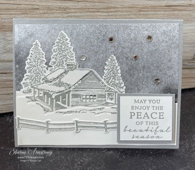 snow-scene-christmas-cards-with-stampin-up-peaceful-cabin-bundle