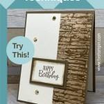 Masking Technique | Simple Card Making Techniques