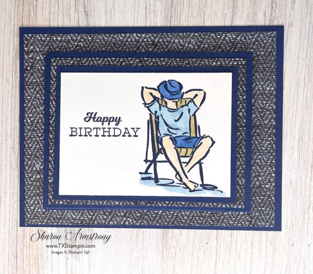 This-DIY-gift-card-holder-is-perfect-for-men-with-stamped-image-of-man-relaxing.
