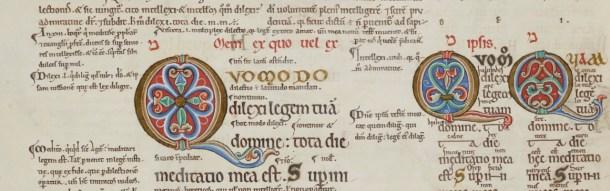Detail, Canterbury Psalter (1147)