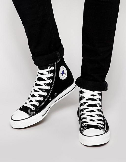 נעלי קונברס שחורות גברים
