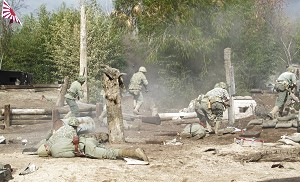 Pacific War - reenactment men