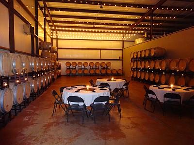 Los Pinos barrel room