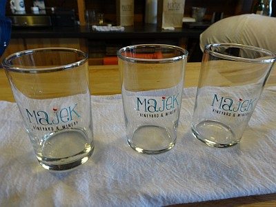 Majek Vineyard - tasting glasses