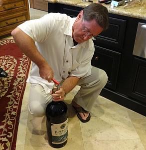 Bill opening bottle