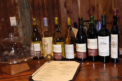 Compass Rose and Calais wines
